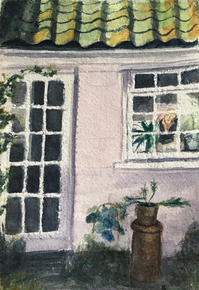 LOOKING OUT OF THE KITCHEN WINDOW, Maggie Pettigrew