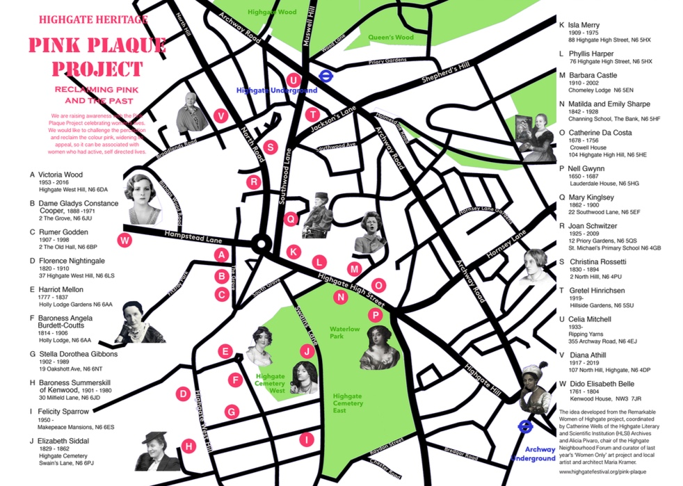 View the Pink Plaques map